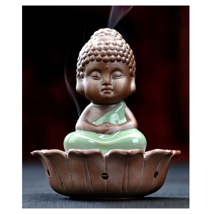 Little Buddha Ceramic Incense Burner